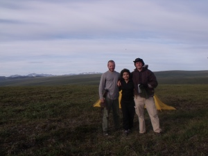 Some friends I met along the way.  They were do research on Arctic Tundra plantation.
