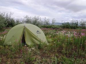 Third night's camp spot