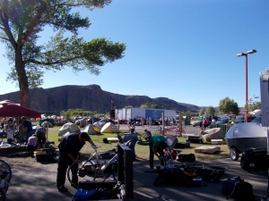 Ride the Rockies camp in Gunnison